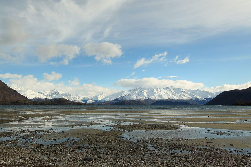 A view of Mt. Aspiring and the Southern Alps in Wanaka, New Zealand.