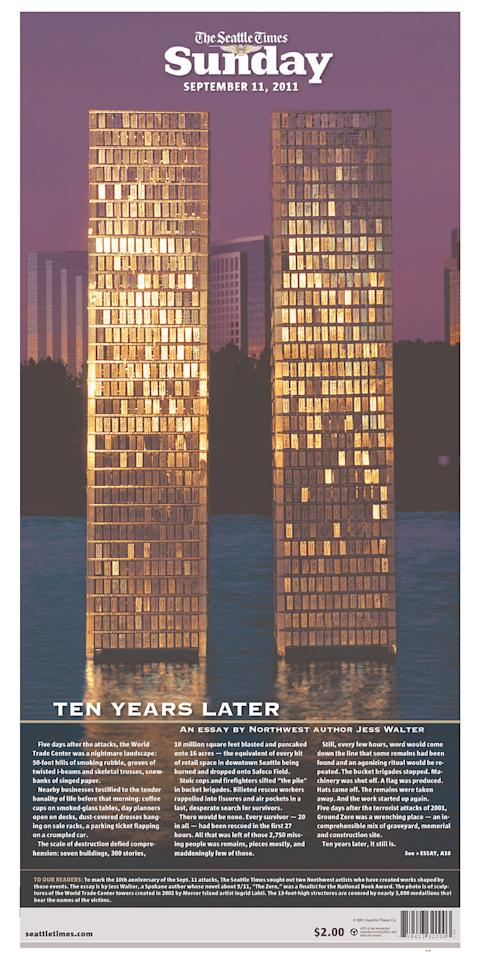 The Seattle Times, Seattle, Wash., Sept. 11, 2011.  (Photo: Newseum.org)