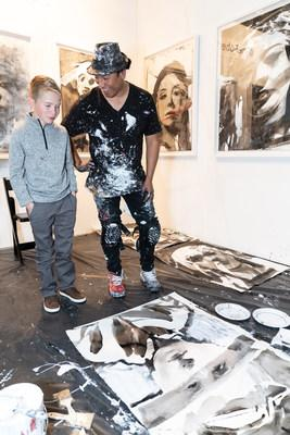 Sofia Vergara hosted a private reception for St. Jude Children's Research Hospital® (https://www.stjude.org) on the opening night of the 25th annual LA Art Show to raise awareness and support for its lifesaving mission: Finding cures. Saving children.® Artist Robert Vargas painted live portraits, including one of St. Jude patient Cole. Tony Thomas and Jason Thomas Gordon, son and grandson of hospital founder Danny Thomas, greeted attendees to share Danny's legacy and celebrate progress in the fight to end childhood cancer. Photo credit: Cliff William Photography