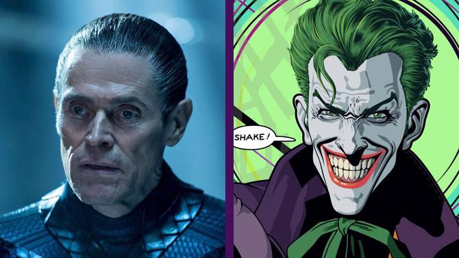 Willem Dafoe (Aquaman) es para muchos fans el candidato perfecto a ser el Joker que se enfrente al Batman de Robert Pattinson –pese a la notable diferencia de edad entre ambos. (Imagen: © Warner Bros. Pictures / DC Comics)