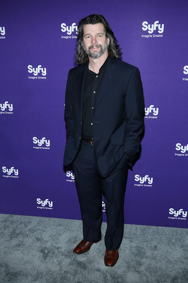 "NEW YORK, NY - APRIL 10:  Ron Moore of ""Helix"" attends Syfy 2013 Upfront at Silver Screen Studios at Chelsea Piers on April 10, 2013 in New York City.  (Photo by Rob Kim/Getty Images)"