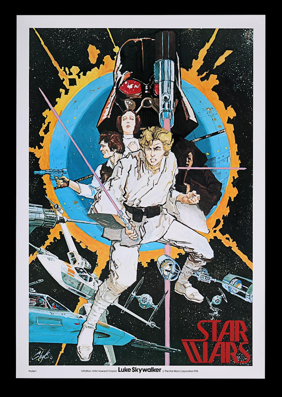 <p>STAR WARS: A NEW HOPE (1977) - Richard Edlund Archive: Special One-Sheet Style Poster, 1976 est. £1,500 - £2,500 (Prop Store)</p>