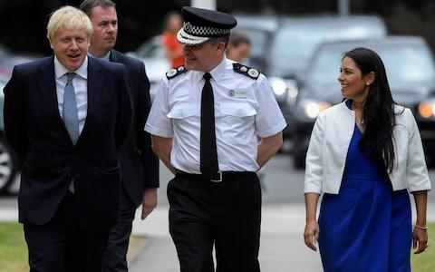 New home secretary Priti Patel is unlikely to row back on the new terror rules - Credit: TOBY MELVILLE/REUTERS