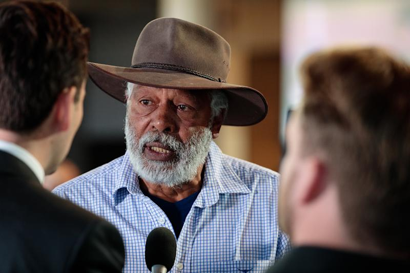 Ernie Dingo said a white man told him 'F****** Abo' then walked off. Source: AAP