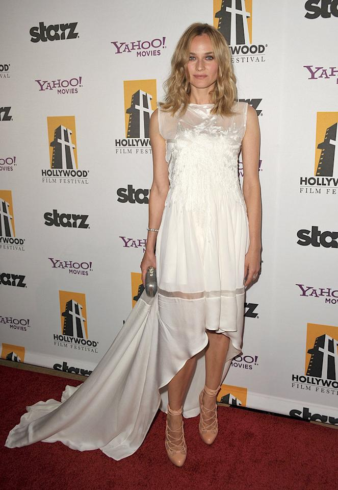 """<a href=""""http://movies.yahoo.com/movie/contributor/1808488303"""">Diane Kruger</a> at the 13th Annual Hollywood Awards Gala held at the Beverly Hilton Hotel - 10/26/2009"""