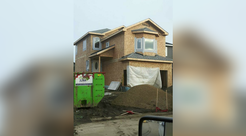Bill and Carrie Pendergasts' Fort McMurray home under construction.