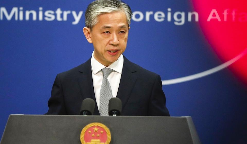 Foreign ministry spokesman Wang Wenbin accused the US of using the group to promote its own interests. Photo: EPA-EFE