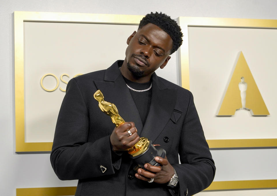 LOS ANGELES, CALIFORNIA – APRIL 25: Daniel Kaluuya, winner of Actor in a Supporting Role for