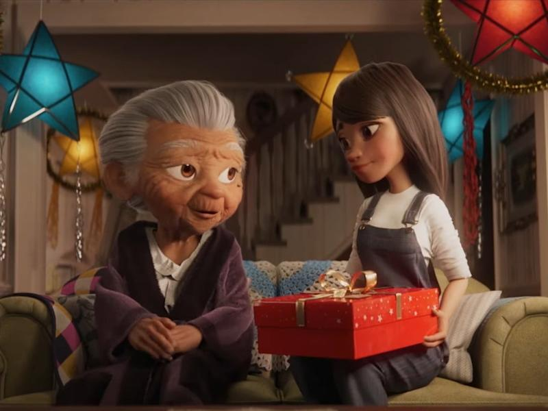 Disney's heartwarming animated Christmas advertisement moves viewers to tears