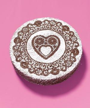 Paper Doily as a Cake Decoration