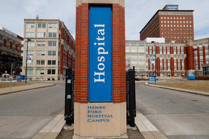 Henry Ford Hospital is among the medical facilities in Detroit bracing for an onslaught of COVID-19 patients. (Photo: ASSOCIATED PRESS)