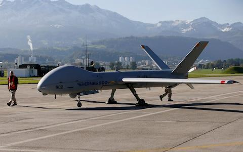 The Israeli Elbit Hermes 900 drone - Credit: PASCAL LAUENER/reuters