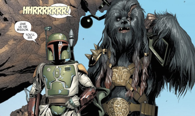 Boba Fett and Black Krrsantan (credit: Marvel Comics)