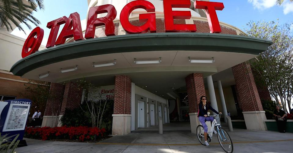 Getty Images. Target reported first-quarter earnings and sales Wednesday that topped the Street's expectations.