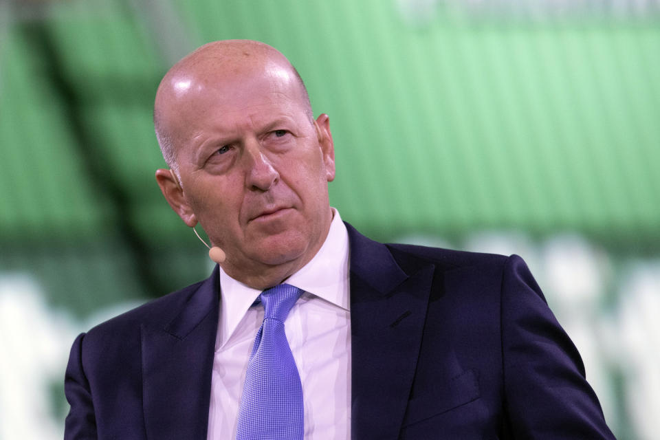 David Solomon, chairman and CEO of Goldman Sachs. Photo: Mark Lennihan/AP