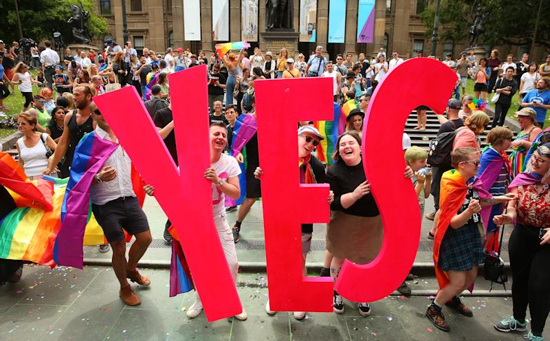 The celebration at the State Library of Victoria in Melbourne. (Scott Barbour via Getty Images)