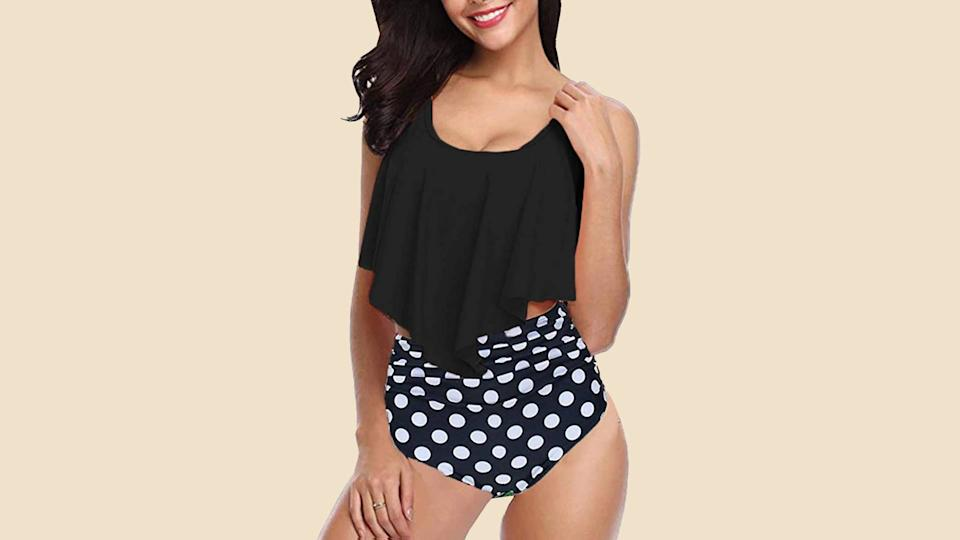 This super flattering swimsuit is a fantastic alternative to the ubiquitous one-piece. (Photo: Amazon)