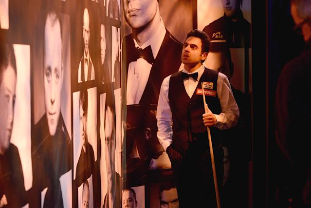 SHEFFIELD, ENGLAND - APRIL 28: Ronnie O'Sullivan waits backstage before his second round match against Mark Williams during The Betfred.com World Snooker Championship at Crucible Theatre on April 28, 2012 in Sheffield, England. (Photo by Gareth Copley/Getty Images)