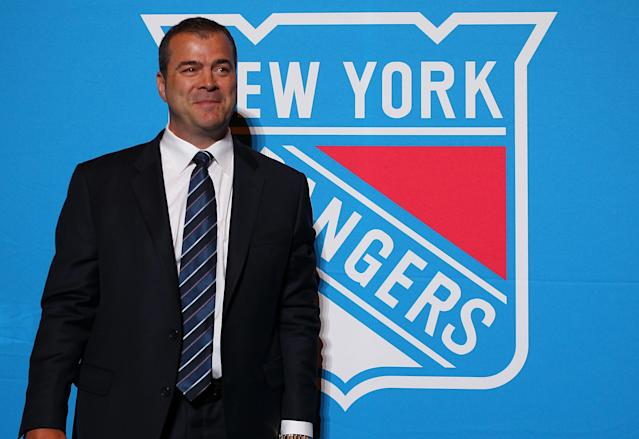 NEW YORK, NY - JUNE 21: Alain Vigneault poses for a photo after being introduced as the New York Rangers Head Coach during a press conference at Radio City Music Hall on June 21, 2013 in New York City. (Photo by Mike Stobe/Getty Images)