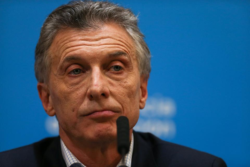 Argentina's President Mauricio Macri attends a news conference after the presidential primaries, in Buenos Aires, Argentina August 12, 2019. REUTERS/Agustin Marcarian