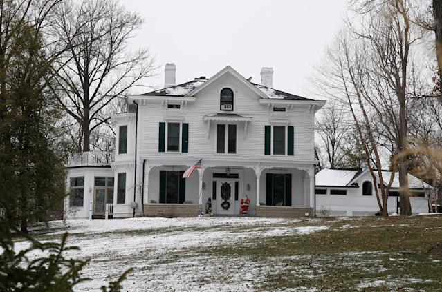 <p>Exterior view of the Warmbier family home, Friday, Jan. 22, 2016, in Wyoming, Ohio. (Photo: Gary Landers/AP) </p>