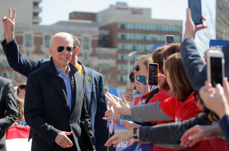 Democratic U.S. presidential candidate and former Vice President Joe Biden attends a campaign stop in St. Louis