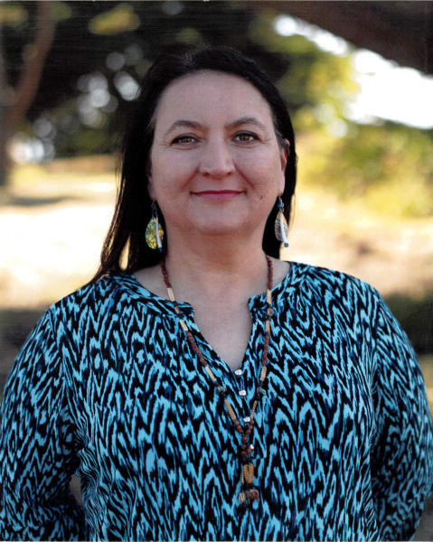 This undated photo provided by the Wiyot Tribe shows Wiyot tribal administrator Michelle Vassel. On Monday, Oct. 21, 2019, the city of Eureka will sign over the deed to the largest chunk, more than 200 acres in what was the historic village of Etpidolh. No money was exchanged. (Wiyot Tribe via AP)