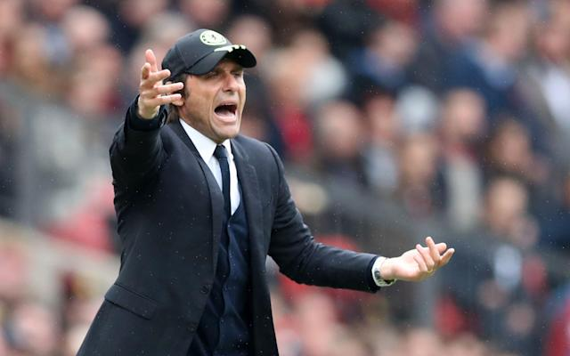 <span>Conte criticised his team's performance at Old Trafford last weekend</span> <span>Credit: Rex Features </span>