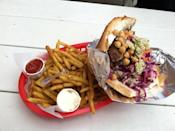 """<p><a href=""""http://www.eatafk.com/"""" rel=""""nofollow noopener"""" target=""""_blank"""" data-ylk=""""slk:Amsterdam Falafel & Kabob"""" class=""""link rapid-noclick-resp"""">Amsterdam Falafel & Kabob</a>, Omaha</p><p>""""I have a new favorite restaurant. Have been looking for authentic doener for 12 years. This was awesome. I suggest getting it with both garlic and the spicy sauce. The curry fries are a must."""" - Foursquare <a href=""""https://foursquare.com/user/98365741"""" rel=""""nofollow noopener"""" target=""""_blank"""" data-ylk=""""slk:Rich Johnson"""" class=""""link rapid-noclick-resp"""">Rich Johnson</a></p>"""