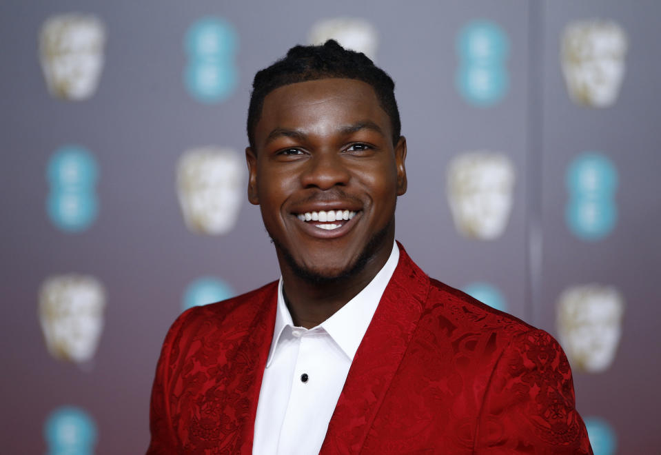 John Boyega arrives at the British Academy of Film and Television Awards (BAFTA) at the Royal Albert Hall in London, Britain, February 2, 2020. REUTERS/Henry Nicholls