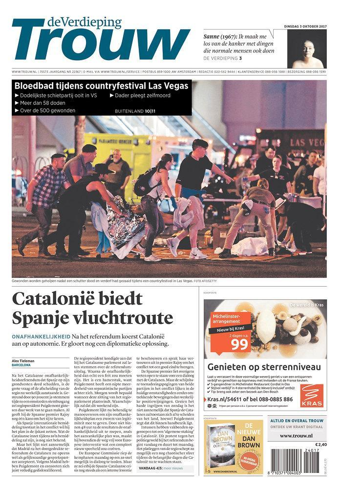 """<p>""""Trouw,"""" published in Amsterdam, Netherlands. (newseum.org) </p>"""