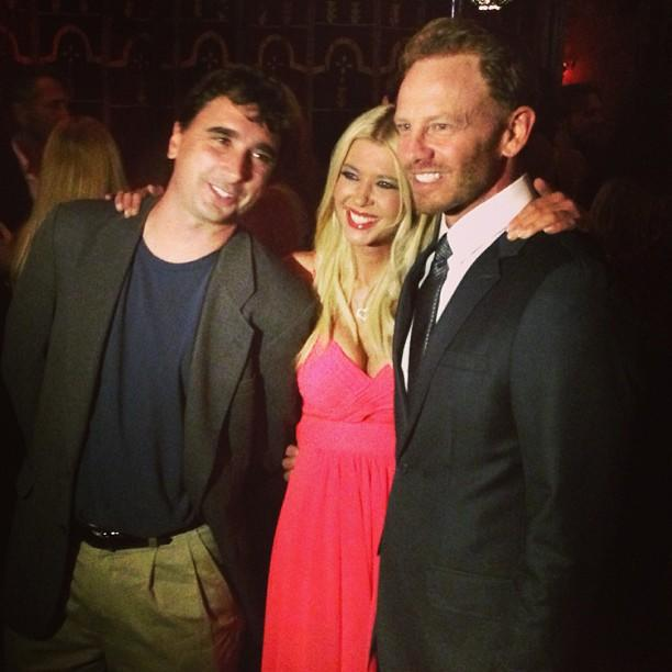Director Anthony C. Ferrante making the magic happen with Tara Reid and Ian Ziering. #sharknado
