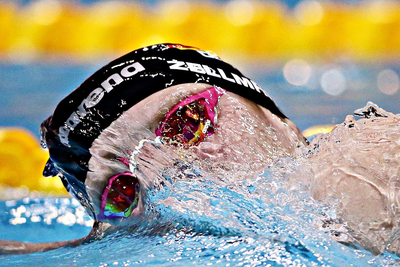 <p>Poul Zellmann of Germany competes in the men's 1500m Freestyle final during the FINA Swimming World Cup at OCBC Aquatic Centre on November 19, 2017 in Singapore. (Photo by Suhaimi Abdullah/Getty Images) </p>