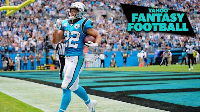 Panthers running back Christian McCaffrey put up a monster game in Week 5. (Photo by Jacob Kupferman/Getty Images)