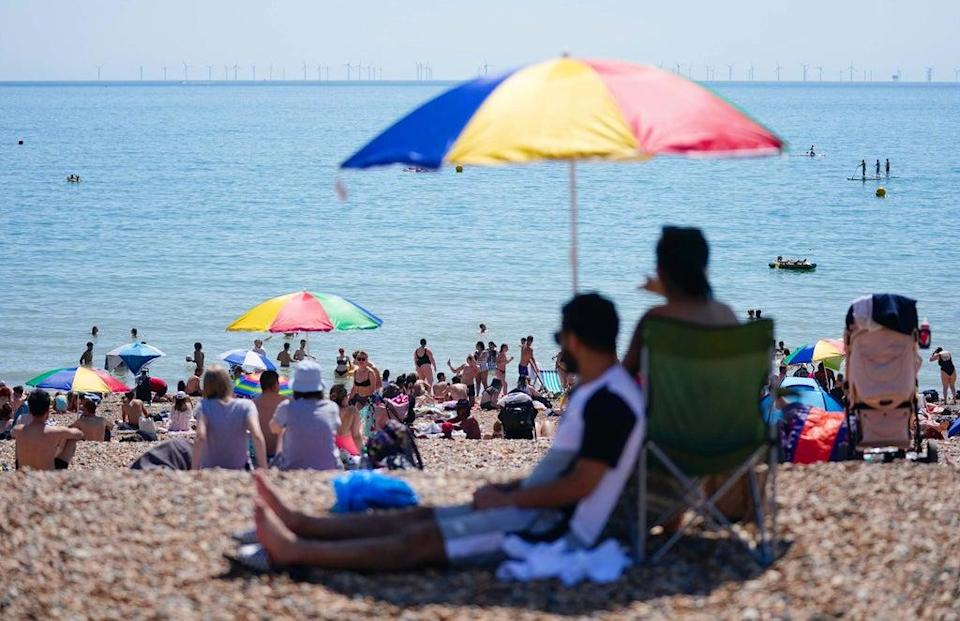 Ticket sales for trains to seaside destinations over the bank holiday weekend have surpassed pre-pandemic levels (Victoria Jones/PA) (PA Wire)
