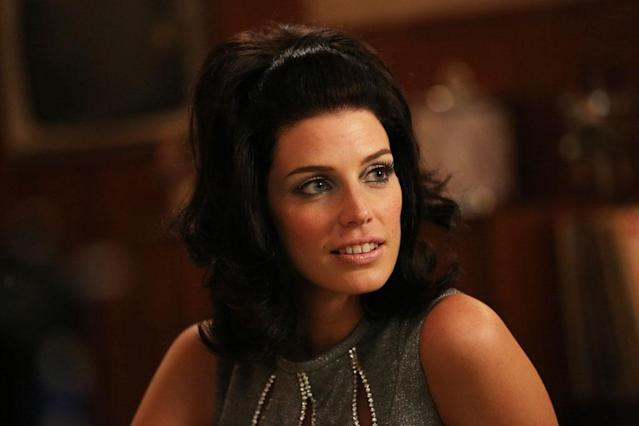 "Megan Draper (Jessica Pare) in Part 2 of the ""Mad Men"" Season Premiere, ""The Doorway."""