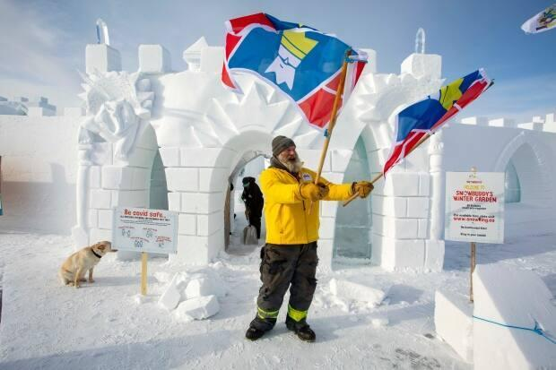 Snowking's Winter Festival normally incorporates live music and comedy shows, but it's been reimagined this year as an outdoor garden to keep in check with chief public health officer's recommendations on large gatherings.