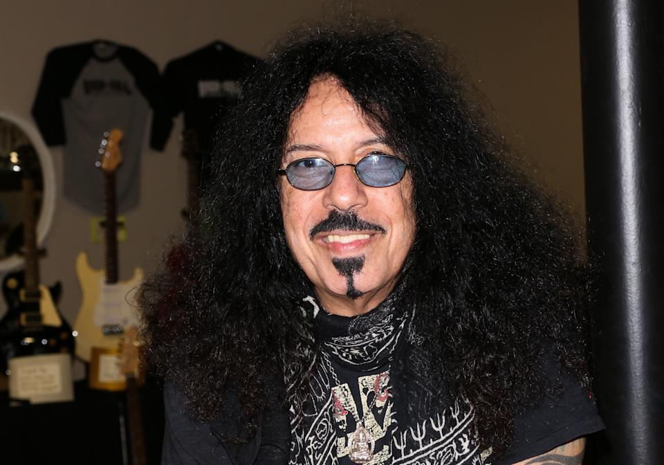 Frankie Banali attends the Rock 'N' Roll Fantasy Camp at Amp Rehearsal on November 6, 2015 in North Hollywood, California.  (Photo by Paul Archuleta/FilmMagic)
