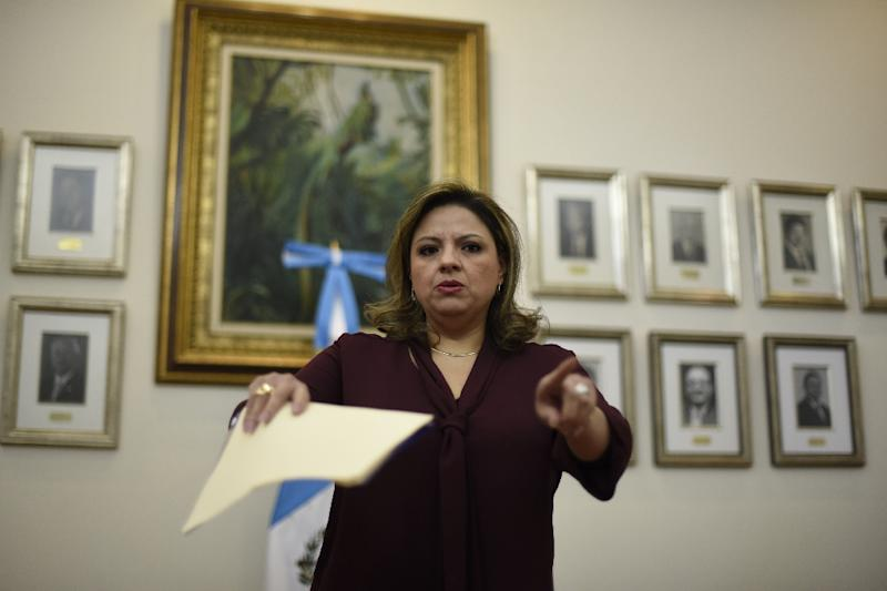 """Moving the embassy from Tel Aviv to Jerusalem is a """"in accordance"""" with Guatemala's foreign policy toward Israel, Foreign Minister Sandra Jovel said"""