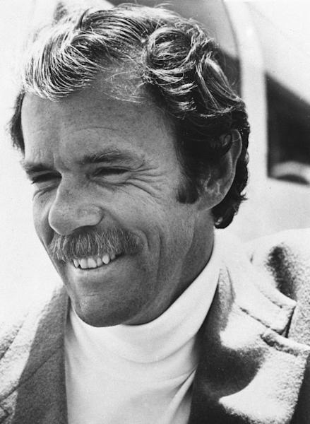 "FILE - This 1975 file photo shows Richard Bach. Bach, who is known for his 1970s best-selling novella ""Jonathan Livingston Seagull"" among other spiritually oriented writings, was in serious condition Saturday, Sept. 1, 2012, after his small plane crashed in Washington state. His son James Bach told the Associated Press his father was on his way to visit a friend on San Juan Island in the north Puget Sound on Friday when his amphibian plane clipped a power line as it landed, sending the aircraft into a crash. (AP Photo/File)"