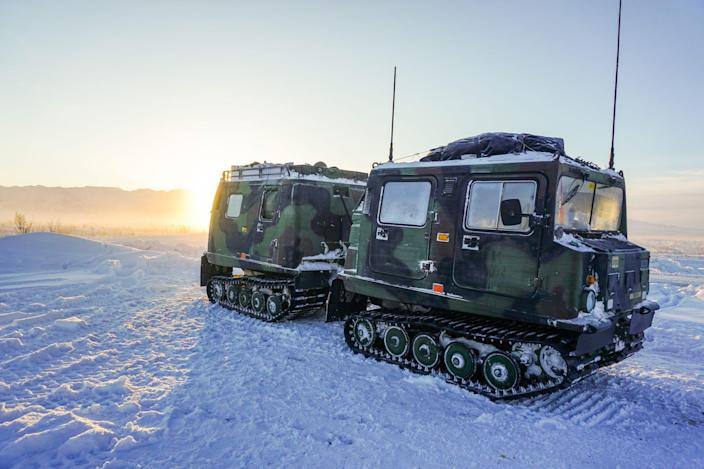 Army Alaska Arctic paratroopers small unit support vehicle