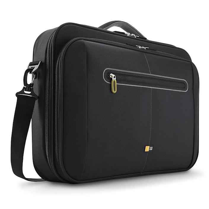 """<p><strong>Case Logic</strong></p><p>amazon.com</p><p><strong>$35.49</strong></p><p><a href=""""https://www.amazon.com/dp/B0038KTAYQ?tag=syn-yahoo-20&ascsubtag=%5Bartid%7C10060.g.36717788%5Bsrc%7Cyahoo-us"""" rel=""""nofollow noopener"""" target=""""_blank"""" data-ylk=""""slk:Shop Now"""" class=""""link rapid-noclick-resp"""">Shop Now</a></p><p>If storage and organization are your main priorities, we present you with the Case Logic Laptop Case. </p><p>This case has plenty of room for all your supplies and belongings. Multiple pockets and compartments allow you to keep everything in the right place. A handy shoulder strap also helps you to bear the extra weight. The roomy laptop compartment is big enough to handle a laptop of just about any size. Padding in the inner sleeve helps to reduce the effects of impacts. </p><p>The Case Logic case is great for anyone who basically needs to bring their office with them.</p>"""