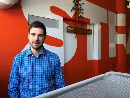 Strava Inc CEO James Quarles poses for a photo at the fitness app company's headquarters in San Francisco