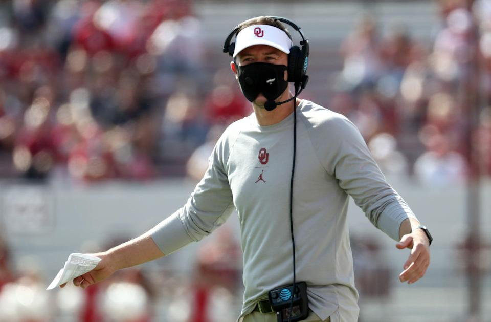Sooners coach Lincoln Riley watched nine players leave the program the week after the 2020 season ended.