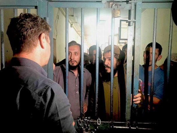 PHOTO: ABC News' Ian Pannell interviews Taliban prisoners in Afghanistan's Pul-e-Charkhi prison, east of Kabul, in 2018. (Bruno Roeber/ABC News, FILE)