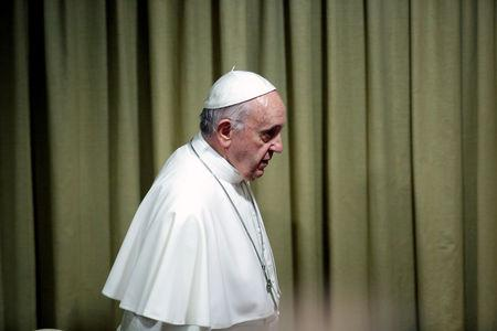 FILE PHOTO: Pope Francis arrives to lead the opening of the Italian Episcopal Conference at the Vatican