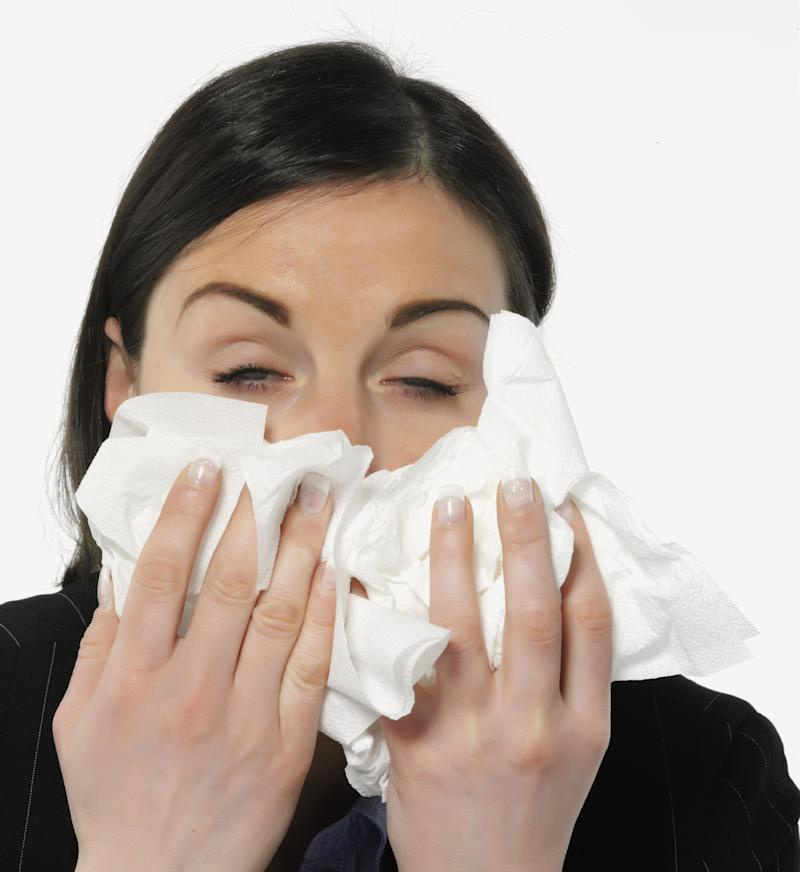 Though a runny nose is most closely associated with a cold, it can also be part of having the flu or H1N1. Be sure to have plenty of tissues on hand to keep germs from spreading.