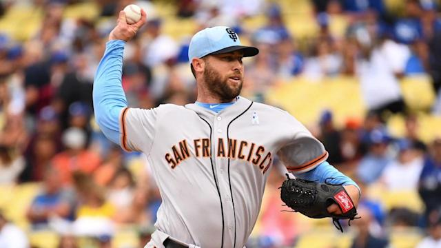 Giants closer Hunter Strickland broke his pitching hand punching a door in frustration after blowing the save and taking the loss in a 5-4 defeat to the Miami Marlins on Monday night.