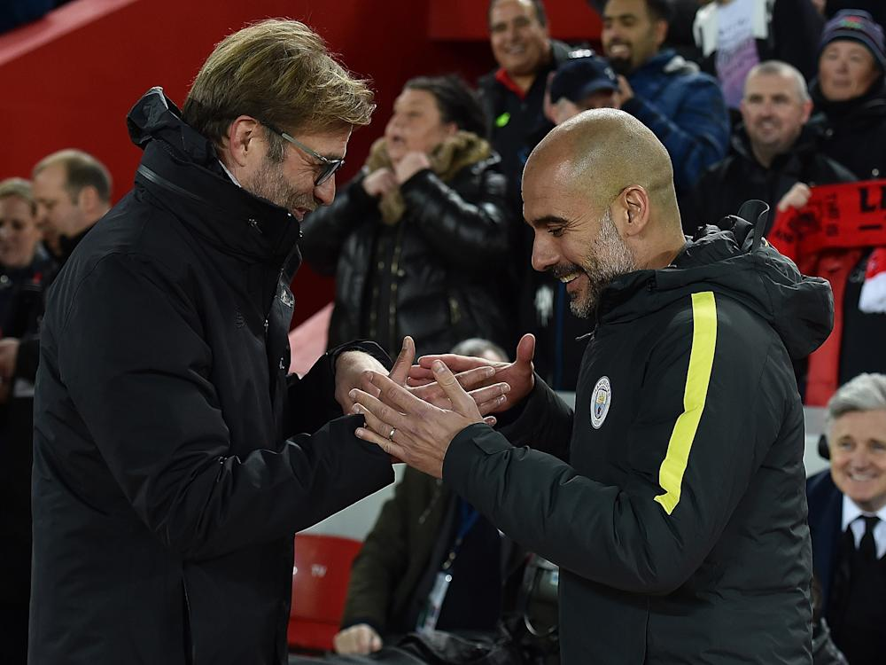 Jurgen Klopp and Pep Guardiola know each other well from their time in the Bundesliga: Getty