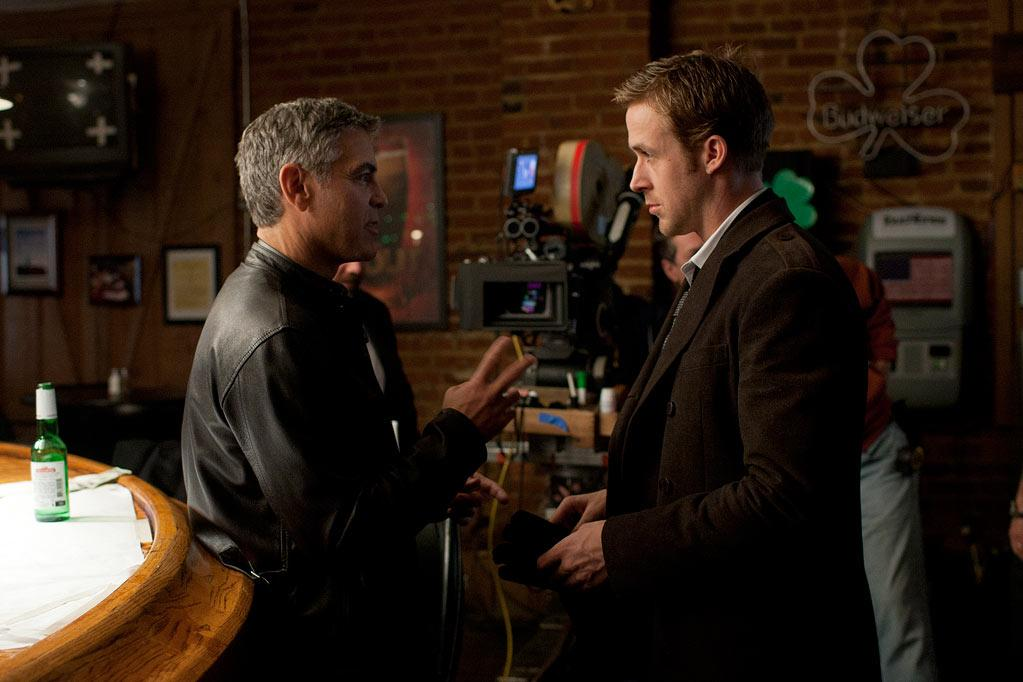 "<a href=""http://movies.yahoo.com/movie/contributor/1800019715"">George Clooney</a> and <a href=""http://movies.yahoo.com/movie/contributor/1804035474"">Ryan Gosling</a> on the set of Columbia Pictures' <a href=""http://movies.yahoo.com/movie/1810155680/info"">The Ides of March</a> - 2011"